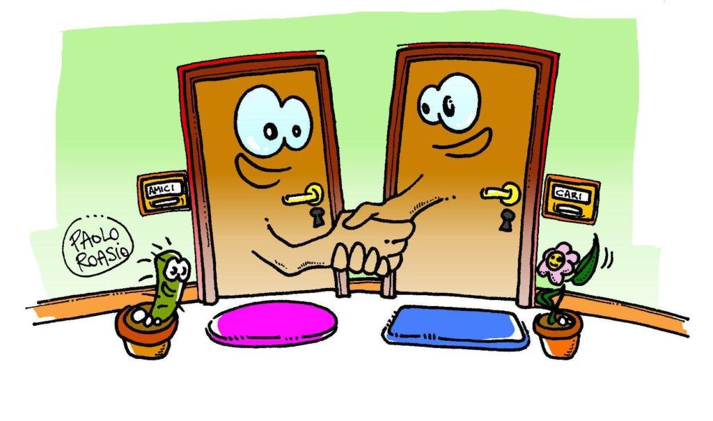 fare amicizia con i propri vicini di casa